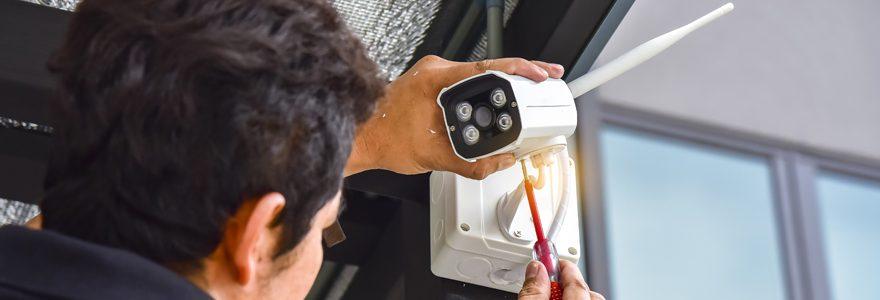 Installation camera de sécurité